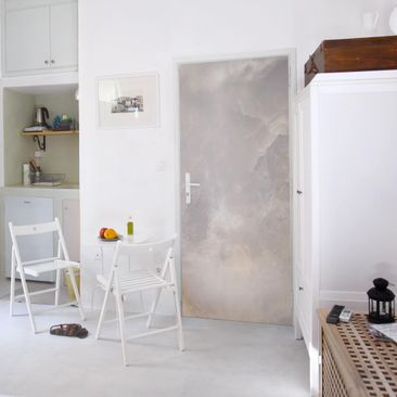 Product picture Door Photo Wall Mural - Onyx Marble Gray