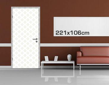 Product picture Door Photo Wall Mural - Diamond Lattice...