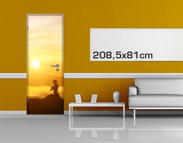 Product picture Door Photo Wall Mural - Yoga Meditation