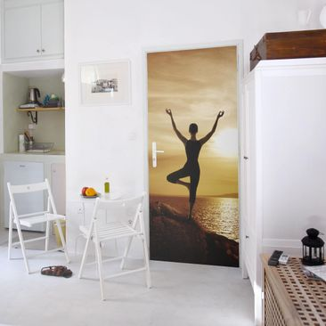 Product picture Door Photo Wall Mural - Yoga