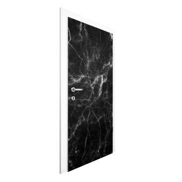 Product picture Non-woven Wallpaper Door - Nero Carrara...