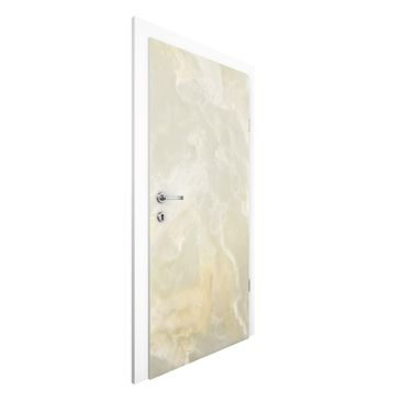 Product picture Non-woven Wallpaper Door - Onyx Marble...