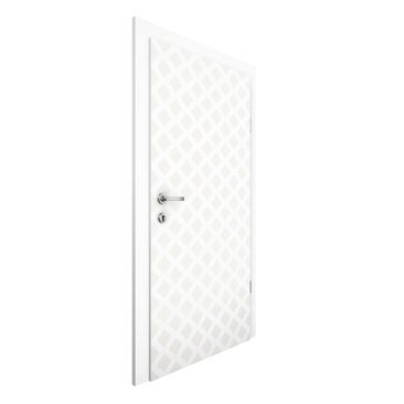 Immagine del prodotto Carta da parati per porte - Diamond Lattice Light Beige - 215cm x 96cm