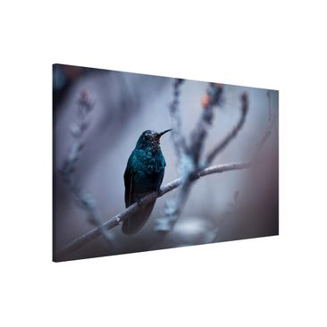 Produktfoto Magnettafel - Kolibri im Winter - Memoboard Querformat 2:3