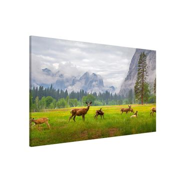 Product picture Magnetic Board - Deer In The Mountains -...