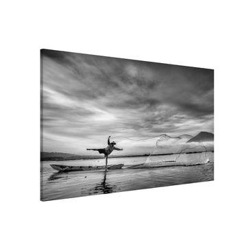 Immagine del prodotto Lavagna magnetica - Fisherman Casts Net - Formato orizzontale 3:2