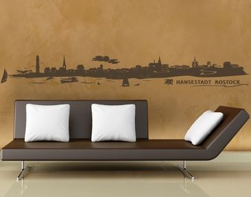 Product picture Wall Decal no.FB39 Rostock Skyline I