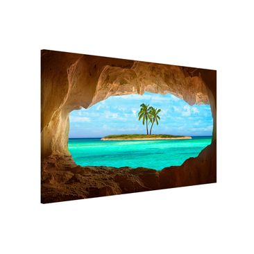 Produktfoto Magnettafel - Blick ins Paradies - Memoboard Querformat 2:3
