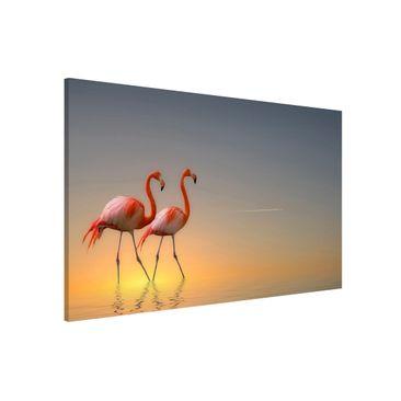 Produktfoto Magnettafel - Flamingo Love - Memoboard Querformat 2:3