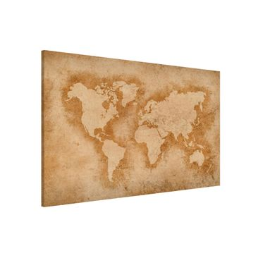 Product picture Magnetic Board - Antique World Map -...