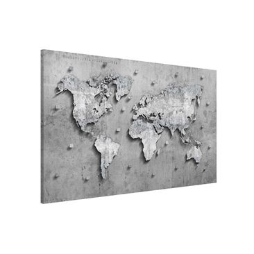 Product picture Magnetic Board - Concrete World Map -...