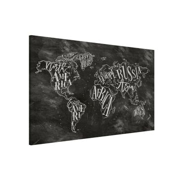 Product picture Magnetic Board - Chalk World Map -...