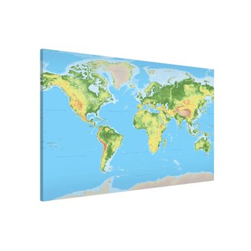 Product picture Magnetic Board - Physical World Map -...