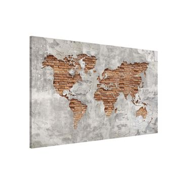 Product picture Magnetic Board - Shabby Concrete Brick...