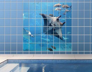 Produktfoto Tile Mural Manta Ray