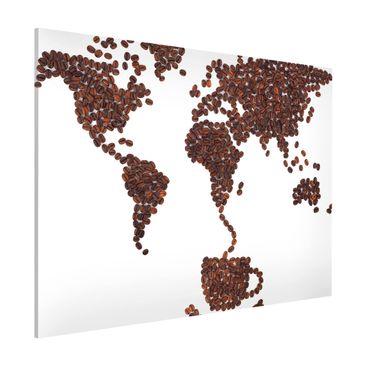Produktfoto Magnettafel - Kaffee um die Welt - Memoboard Querformat 3:4