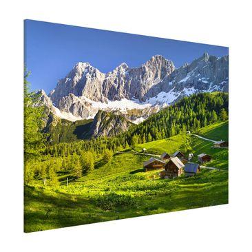Produktfoto Magnettafel - Steiermark Almwiese - Memoboard Querformat 3:4