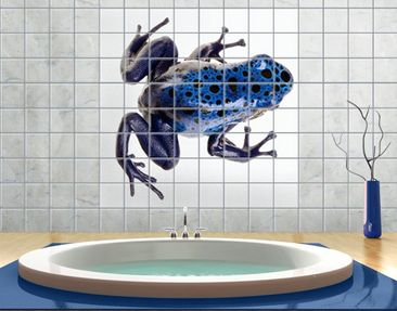 Product picture Tile Mural Blue Frog