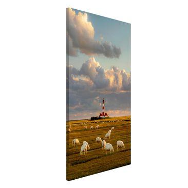 Produktfoto Magnettafel - Nordsee Leuchtturm mit...