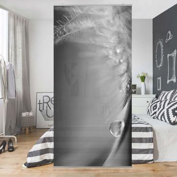 Produktfoto Raumteiler - Story of a Waterdrop Black White - 250x120cm