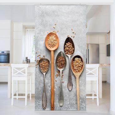 Immagine del prodotto Tenda a pannello - Cereal Grains Spoon - 250x120cm