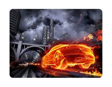 Product picture Wall Mural Car in Fire