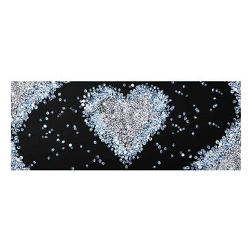 Product picture Print on Glass - Diamond Heart -...