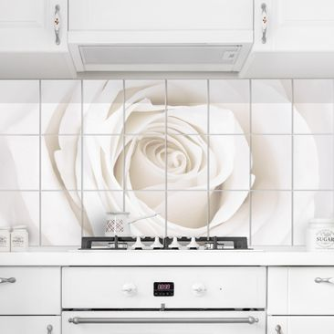 Product picture Tile Mural Pretty White Rose