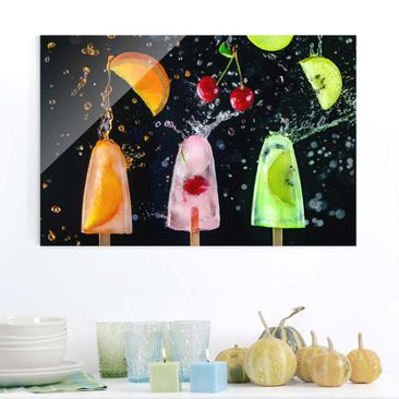 Product picture Print on Glass - Popsicle - Glass Wall...