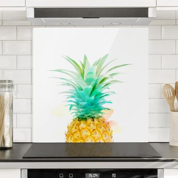 Immagine del prodotto Paraschizzi in vetro - Pineapple Watercolor - Quadrato 1:1