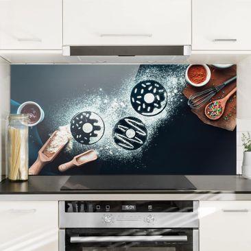 Produktfoto Spritzschutz Glas - Backrezept Donuts - Querformat 1:2