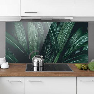 Immagine del prodotto Paraschizzi in vetro - Green Palm Leaves - Orizzontale 1:2
