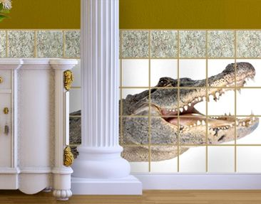 Product picture Tile Mural The Happy Crocodile