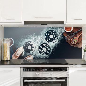 Immagine del prodotto Paraschizzi in vetro - Baking Recipe Donuts - Panoramico