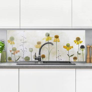 Immagine del prodotto Paraschizzi in vetro - Delicate Helenium Flowers - Panoramico