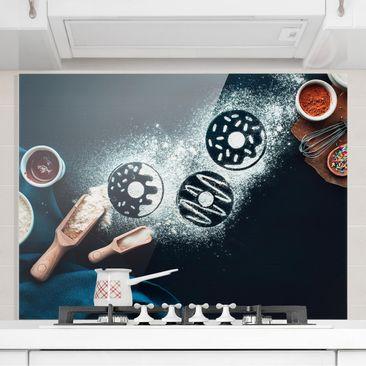 Produktfoto Spritzschutz Glas - Backrezept Donuts - Querformat 3:4