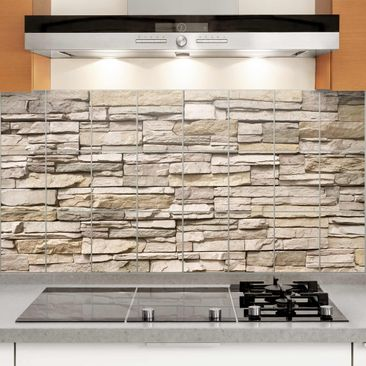 Immagine del prodotto Adesivo per piastrelle - Asian Stonewall - Stone wall with big bright stones
