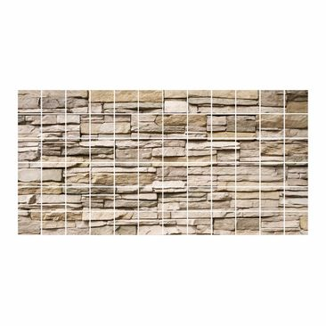 Product picture Tile Mural Asian Stonewall - Stone wall...