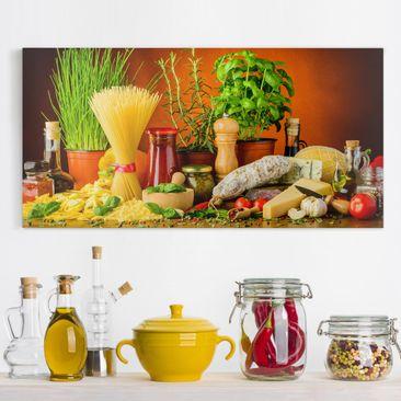 Produktfoto Leinwandbild - Italienische Küche -...
