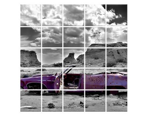Produktfoto Fliesenbild Pink Cadillac
