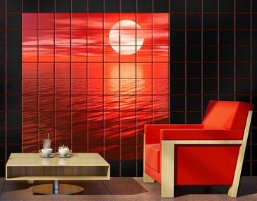 Produktfoto Tile Mural Red Sunset