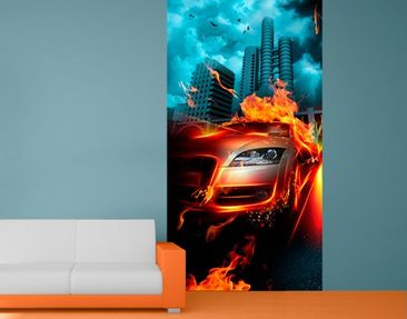 Product picture Photo Wall Mural Burning Asphalt 144 cm...