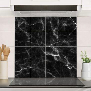 Produktfoto Fliesenbild - Nero Carrara -...
