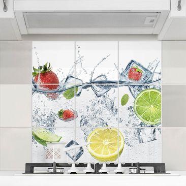 Produktfoto Fliesenbild - Frucht Cocktail - Fliesensticker Set quadratisch