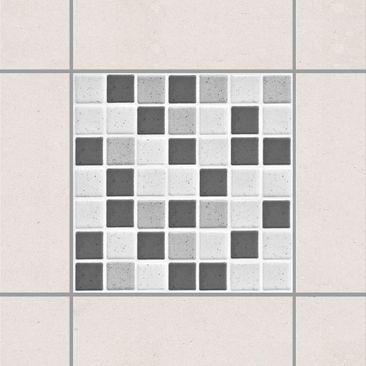 Product picture Tile Sticker - Gray Mosaic Tiles 15x15...