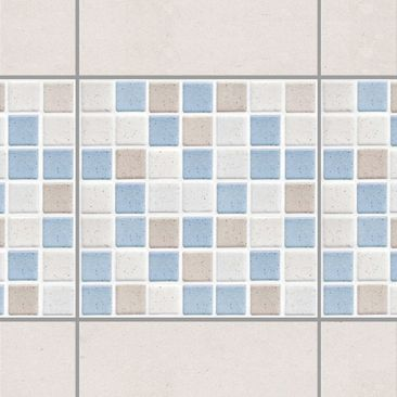 Product picture Tile Border - Mosaic Tile Sea Sand 15x15...