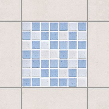 Product picture Tile Sticker - Mosaic Tiles Light Blue...