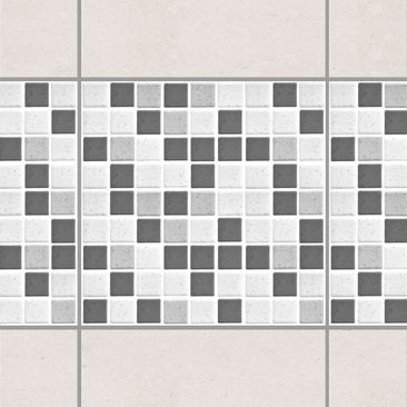 Product picture Tile Border - Gray Mosaic Tiles 20x20 cm