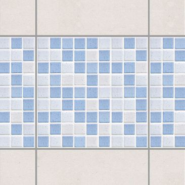 Product picture Tile Border - Mosaic Tiles Light Blue...