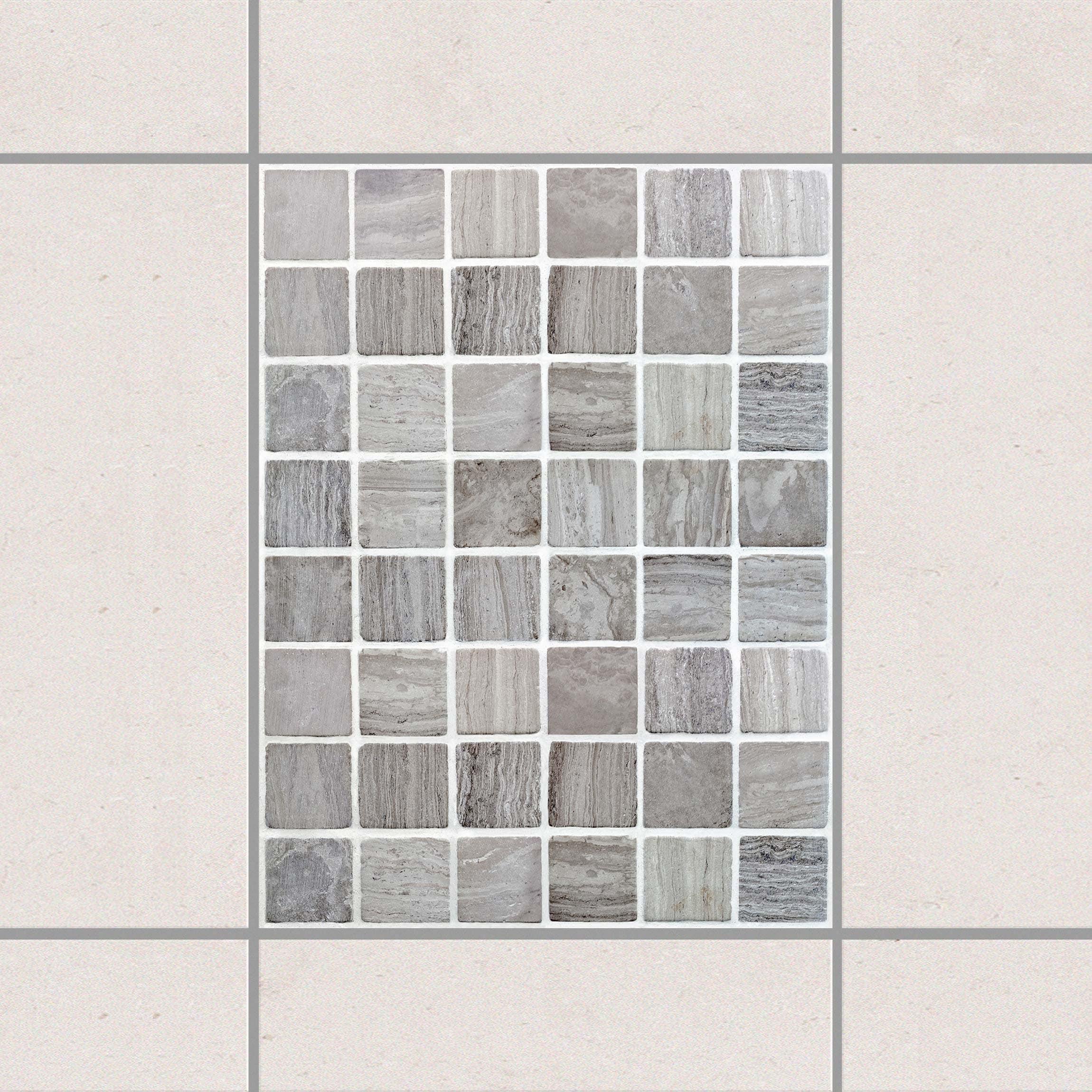 Tile Sticker Mosaic Tiles Marble Look 15x20 Cm